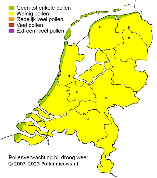 Pollen bij meteotines
